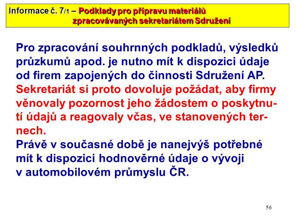 56 Informace č.