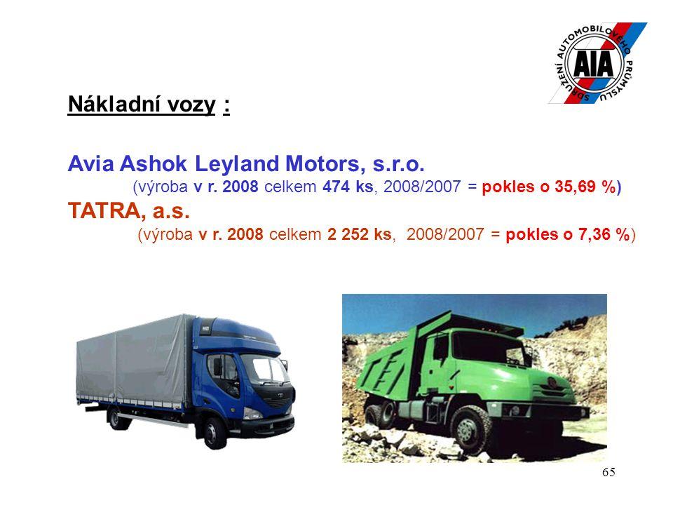 65 Nákladní vozy : Avia Ashok Leyland Motors, s.r.o.