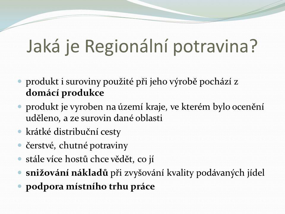 Jaká je Regionální potravina.