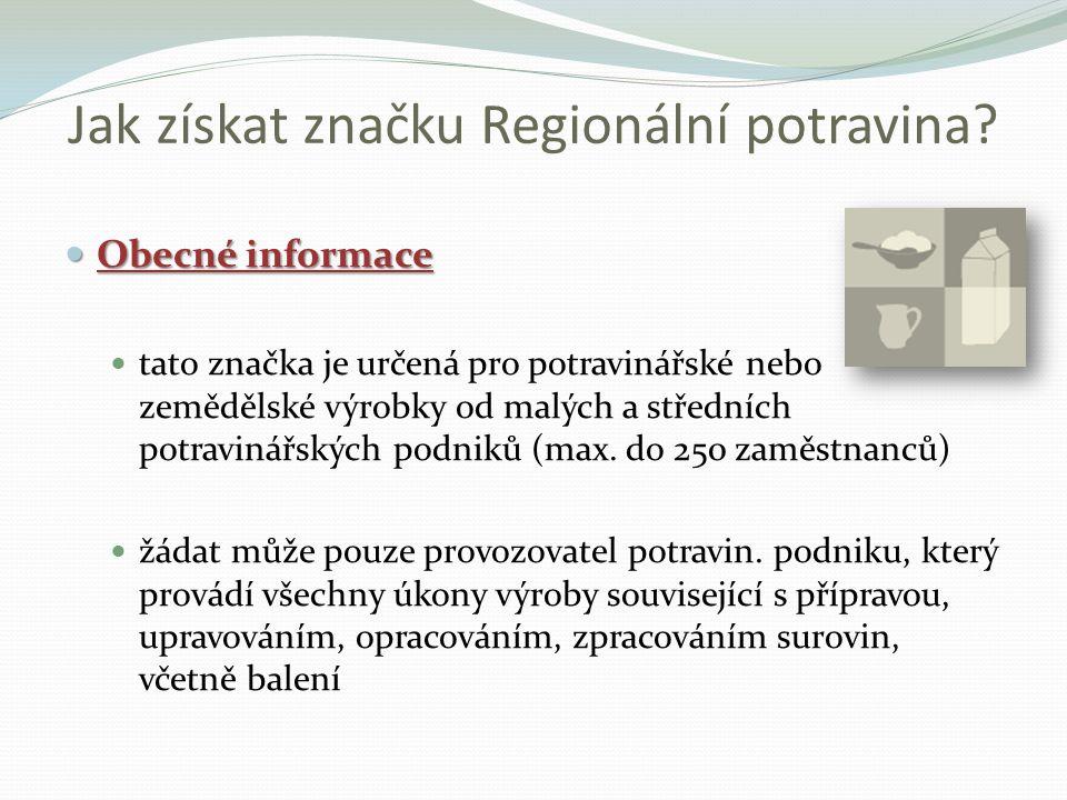 Jak získat značku Regionální potravina.
