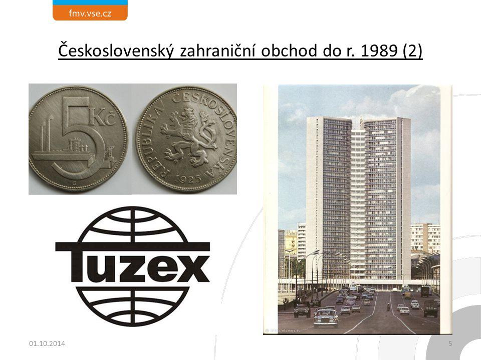 Československý zahraniční obchod do r. 1989 (2) 01.10.20145