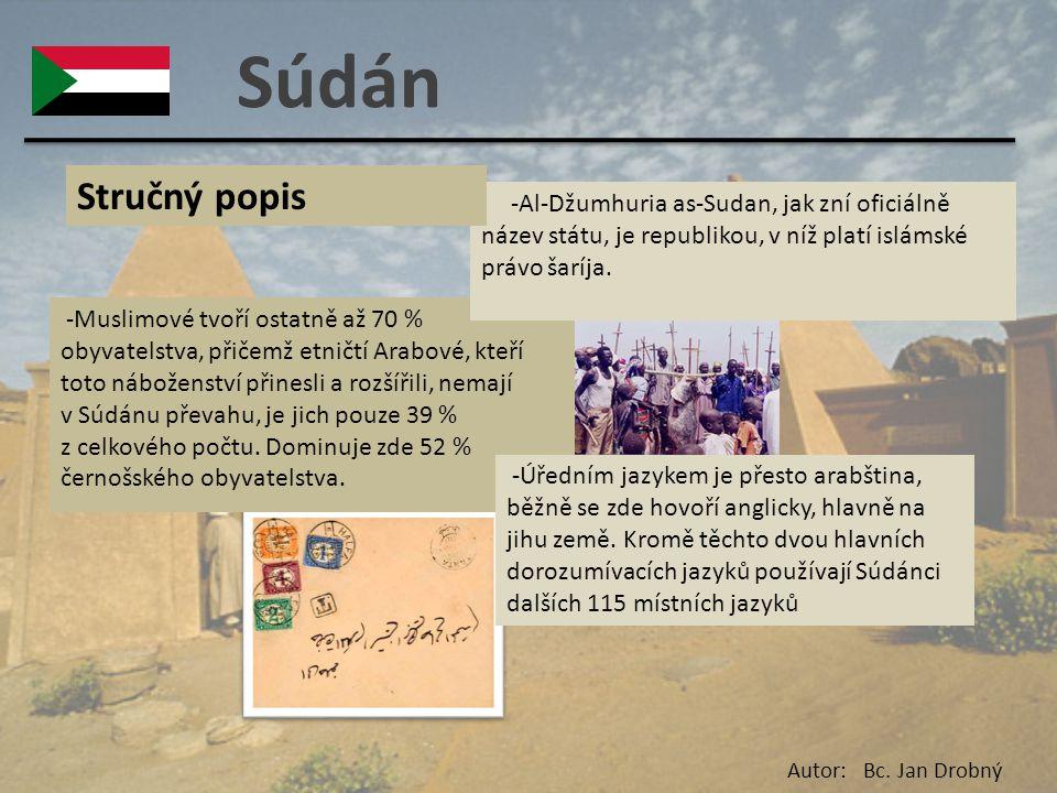 Súdán -Muslimové tvoří ostatně až 70 % obyvatelstva, přičemž etničtí Arabové, kteří toto náboženství přinesli a rozšířili, nemají v Súdánu převahu, je