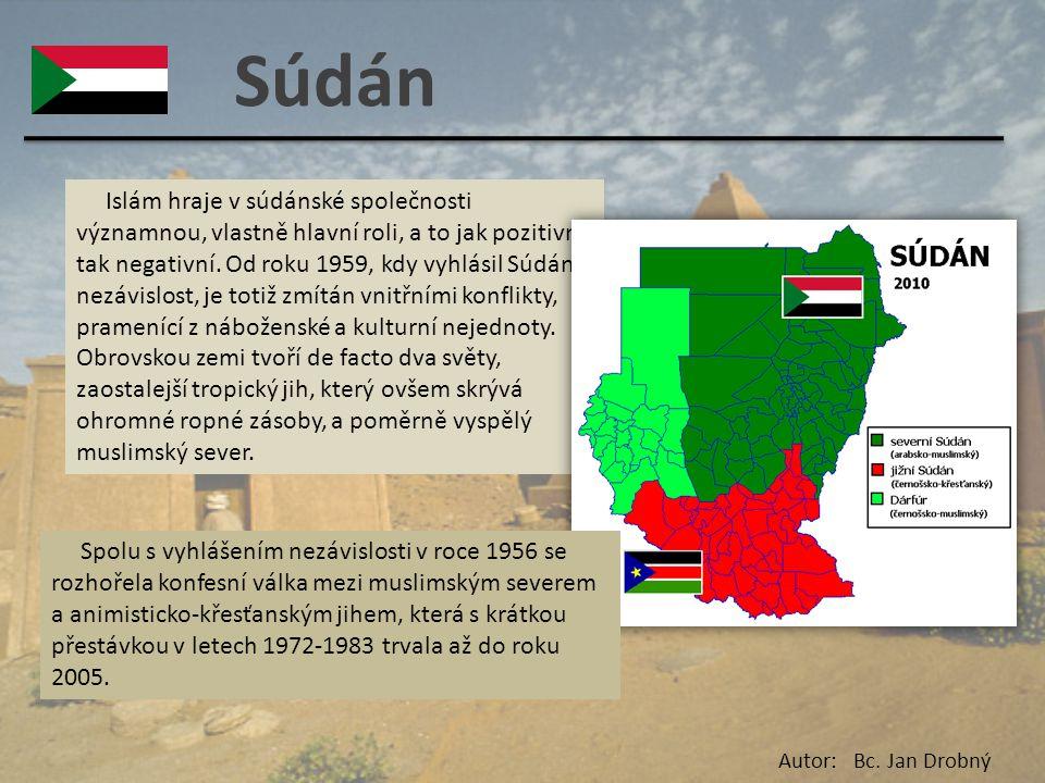 Súdán Islám hraje v súdánské společnosti významnou, vlastně hlavní roli, a to jak pozitivní, tak negativní. Od roku 1959, kdy vyhlásil Súdán nezávislo