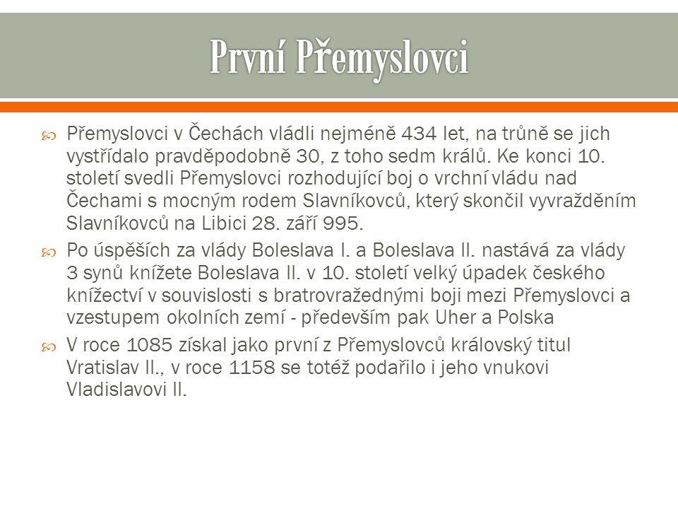 Poslední přemyslovští králové, Přemysl Otakar II., Václav II.