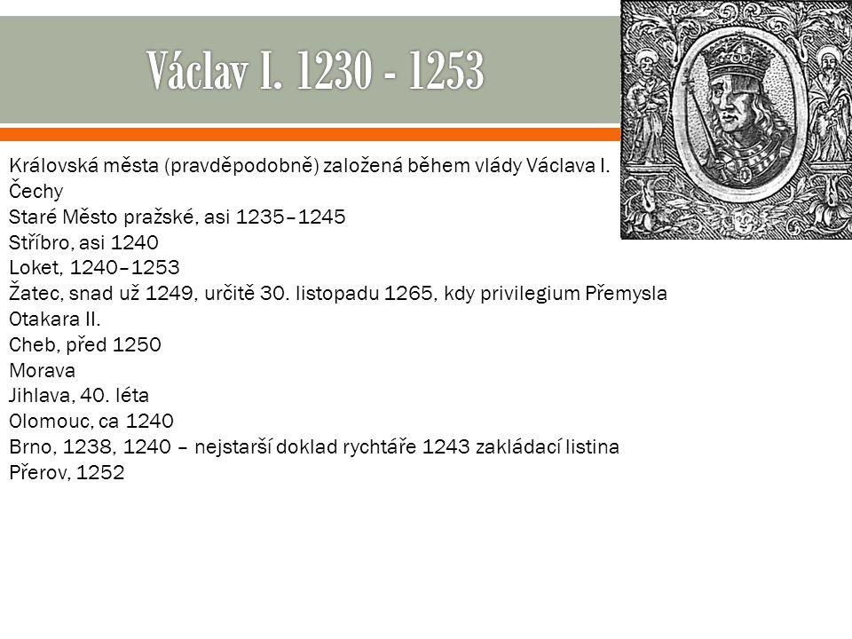  V osobě krále Přemysla Otakara II., syna Václava I., se v roce 1253 počet mužských členů rodu omezil jen na jednoho.