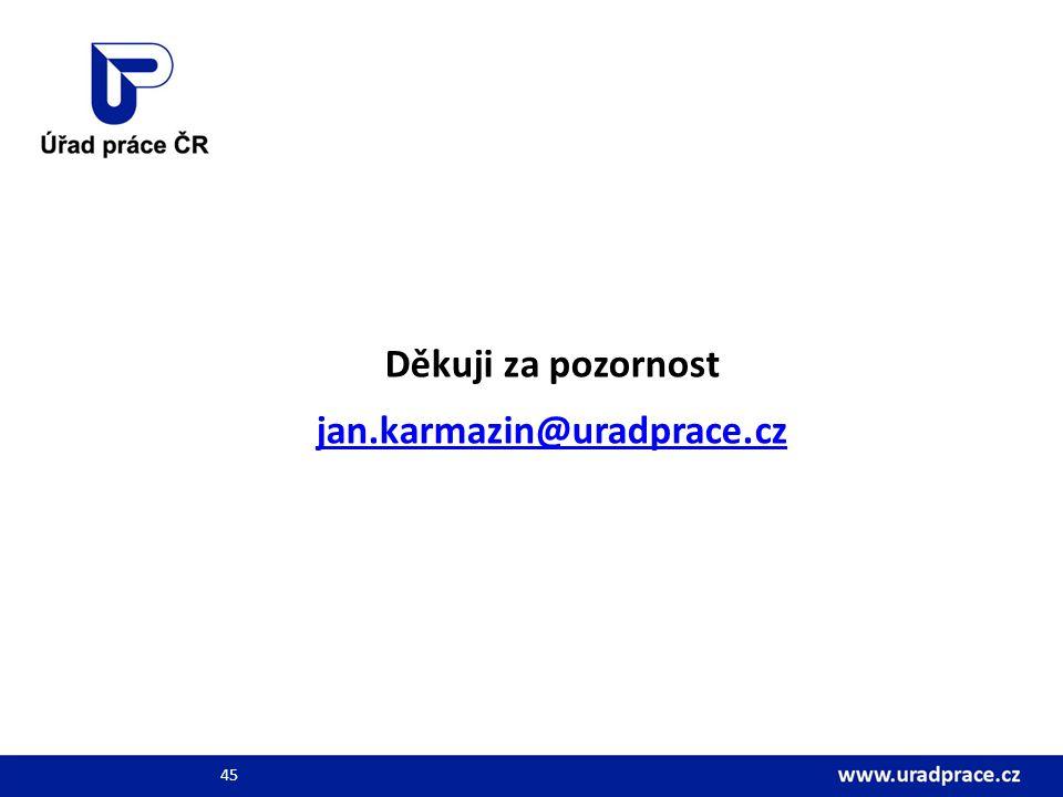 Děkuji za pozornost jan.karmazin@uradprace.cz 45