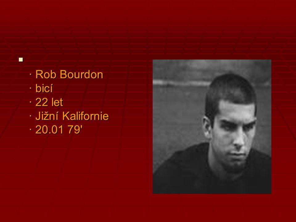  · Rob Bourdon · bicí · 22 let · Jižní Kalifornie · 20.01 79'