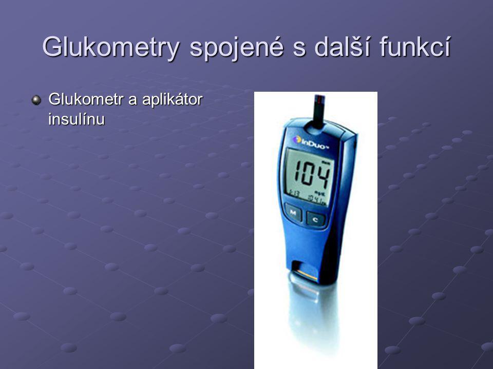 Glukometr a aplikátor insulínu