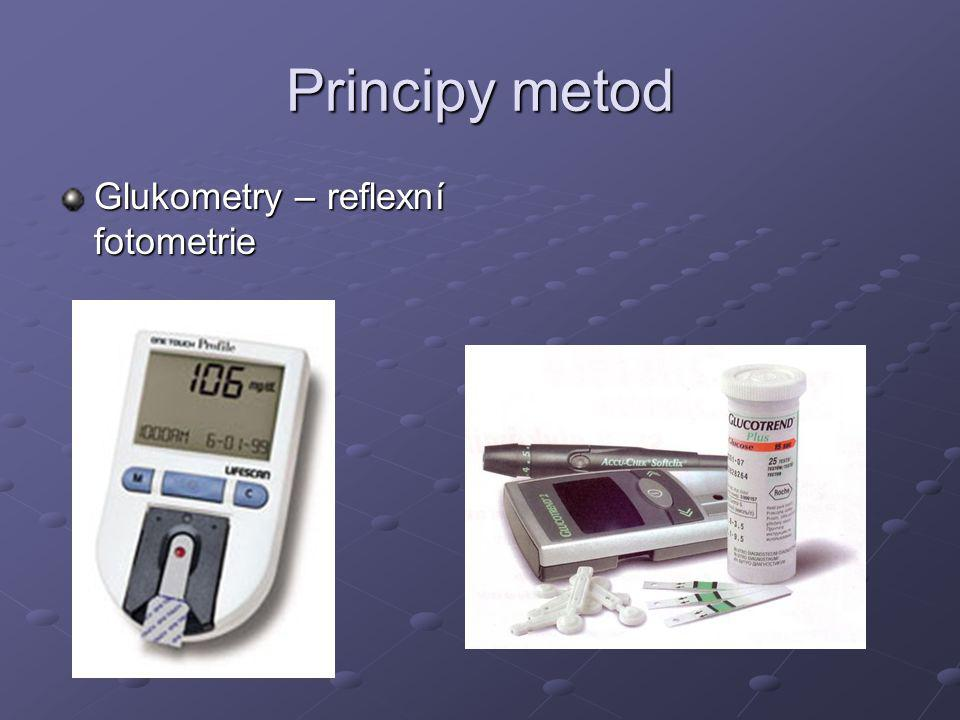 Principy metod Glukometry – reflexní fotometrie
