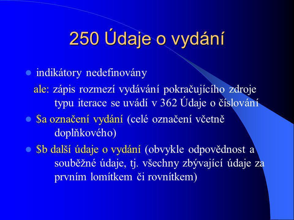 260 Nakladatelské údaje 1.