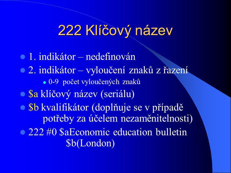 240 Unifikovaný název (vedlejší záhlaví) 1.