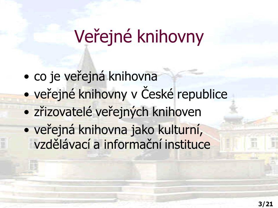 14/21 Doporučení IFLA (mezinárodní knihovnická organizace) pro veřejné knihovny 1.