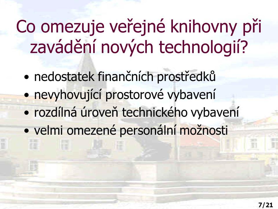 8/21 Pracovníci veřejných knihoven v letech 1993-1997