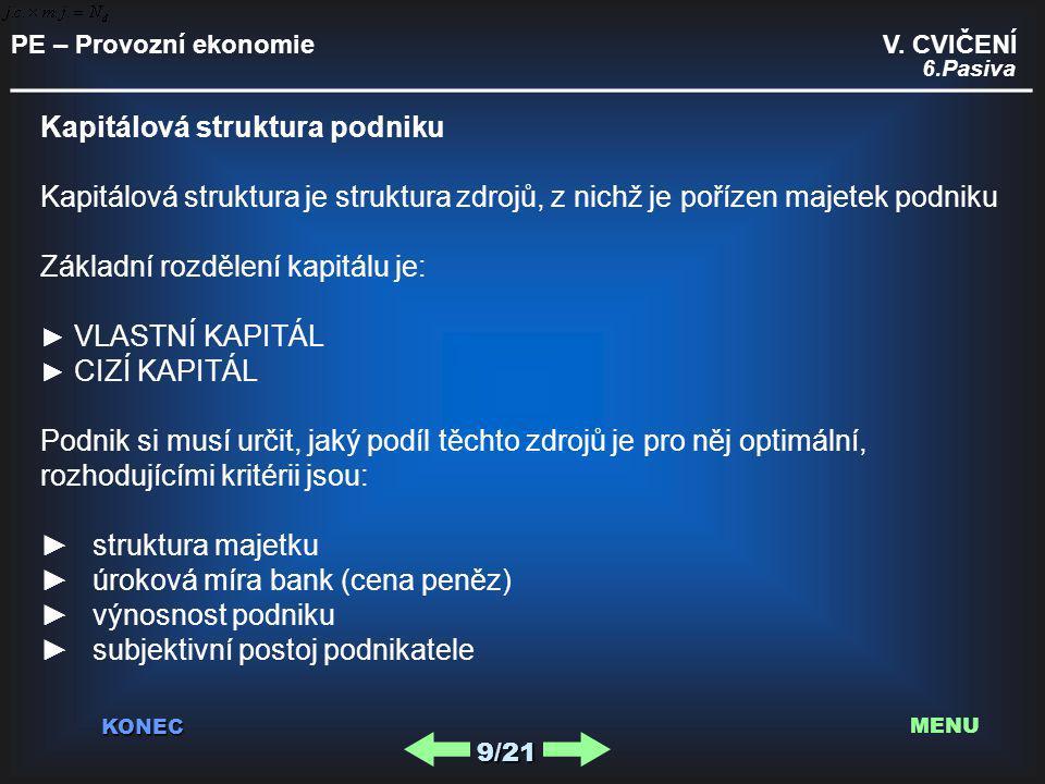 PE – Provozní ekonomie V.