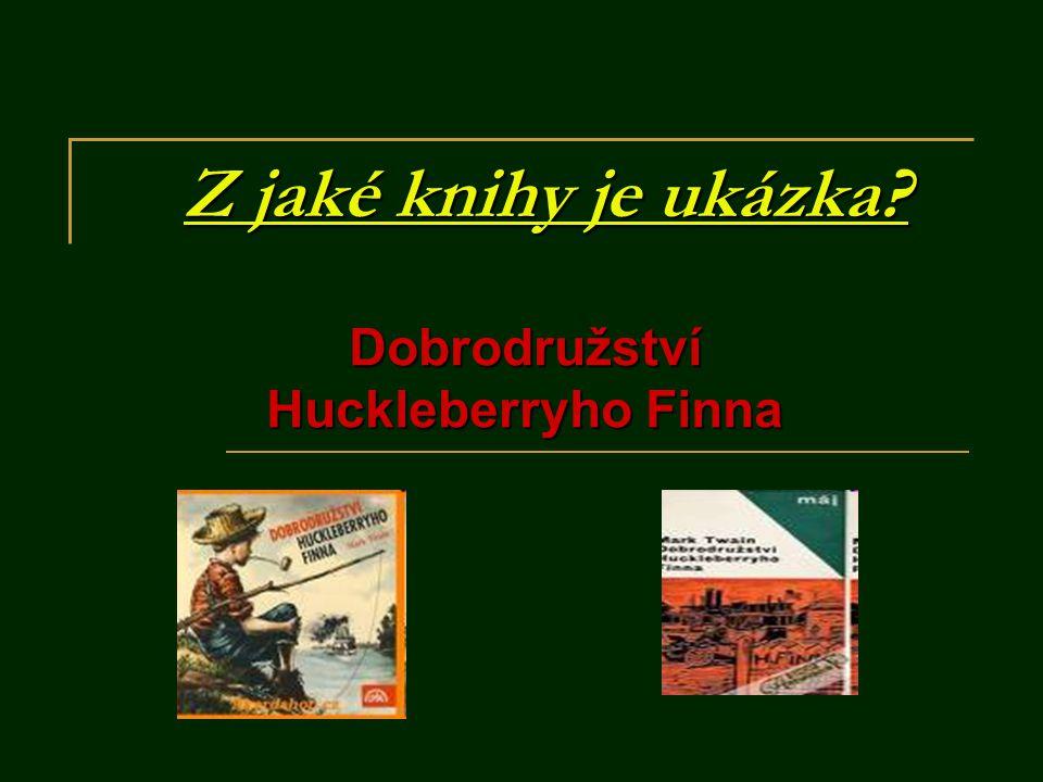 Z jaké knihy je ukázka? Dobrodružství Huckleberryho Finna