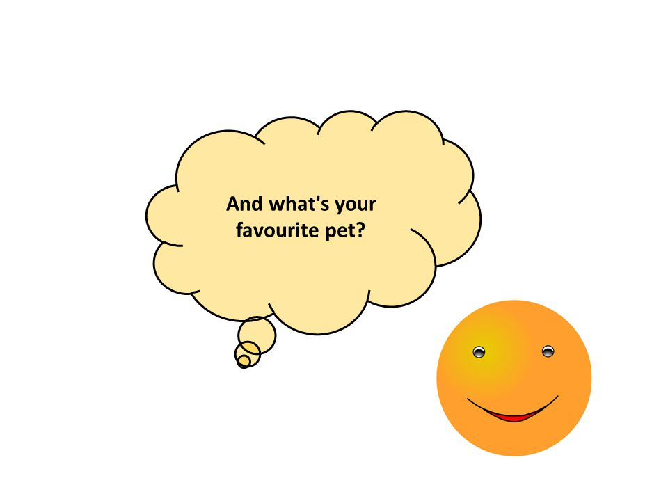 And what's your favourite pet?