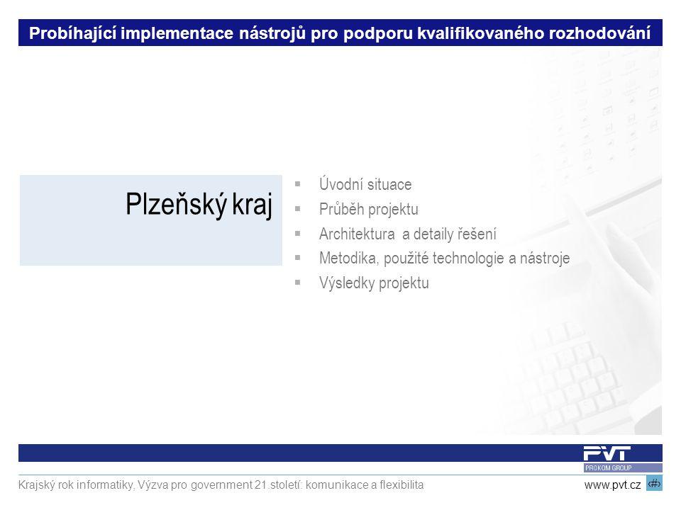 10 www.pvt.cz Krajský rok informatiky, Výzva pro government 21.století: komunikace a flexibilita Probíhající implementace nástrojů pro podporu kvalifi