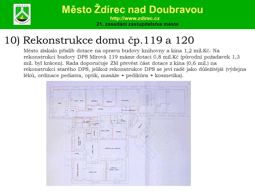 10) Rekonstrukce domu čp.119 a 120 Město Ždírec nad Doubravou http://www.zdirec.cz 21.