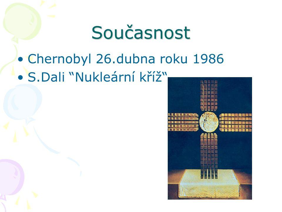 """Současnost Chernobyl 26.dubna roku 1986 S.Dali """"Nukleární kříž"""""""