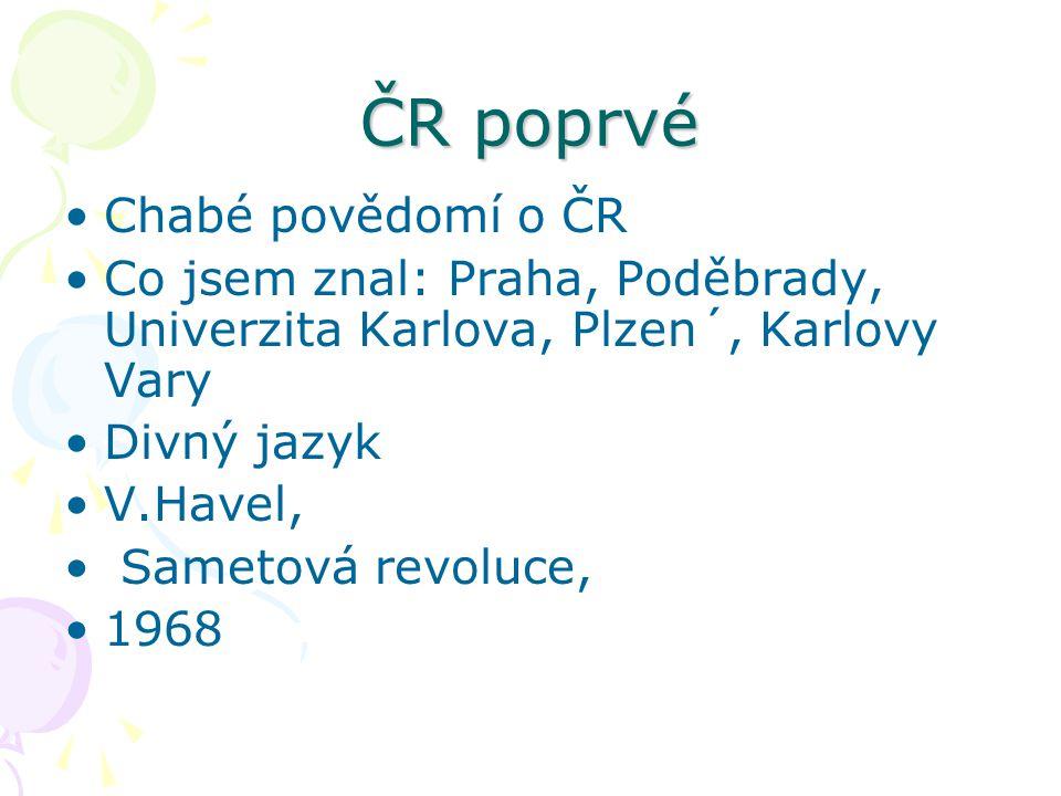 Stereotypy Zobecnění evropanů o Česku: Pivo, Praha, Hokej, Pivo))),K.Gott Sparta, Nejste Poláci.