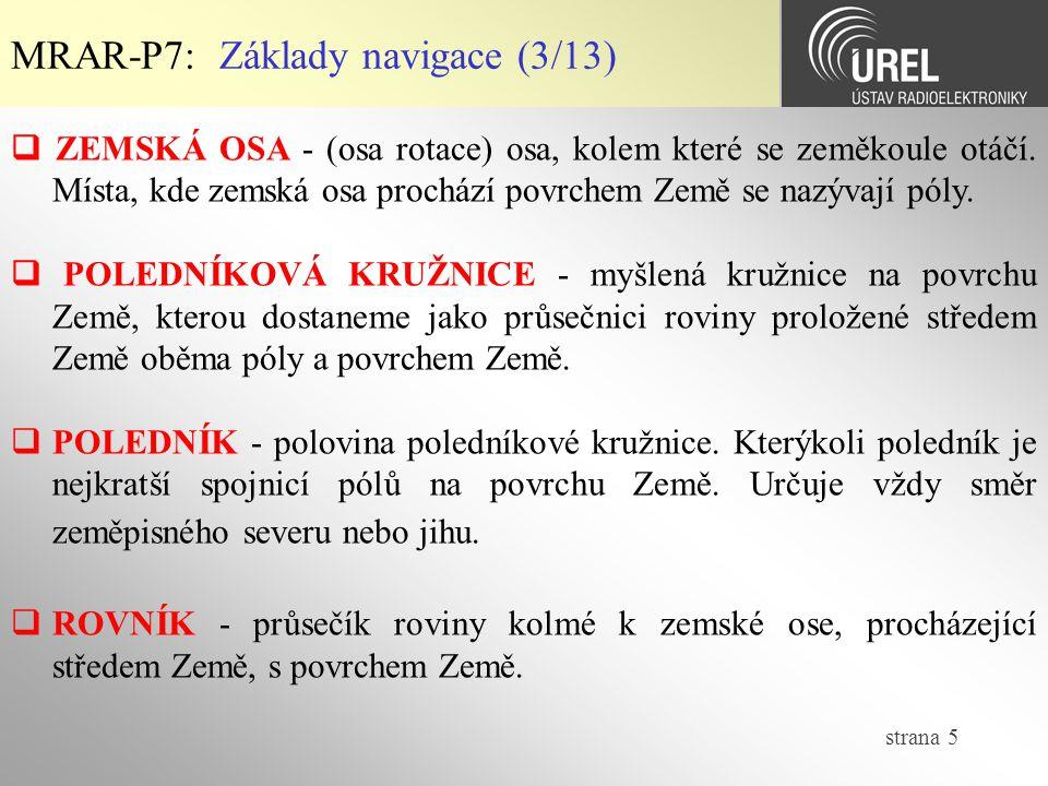 strana 26 MRAR-P7: Geodetické souř.