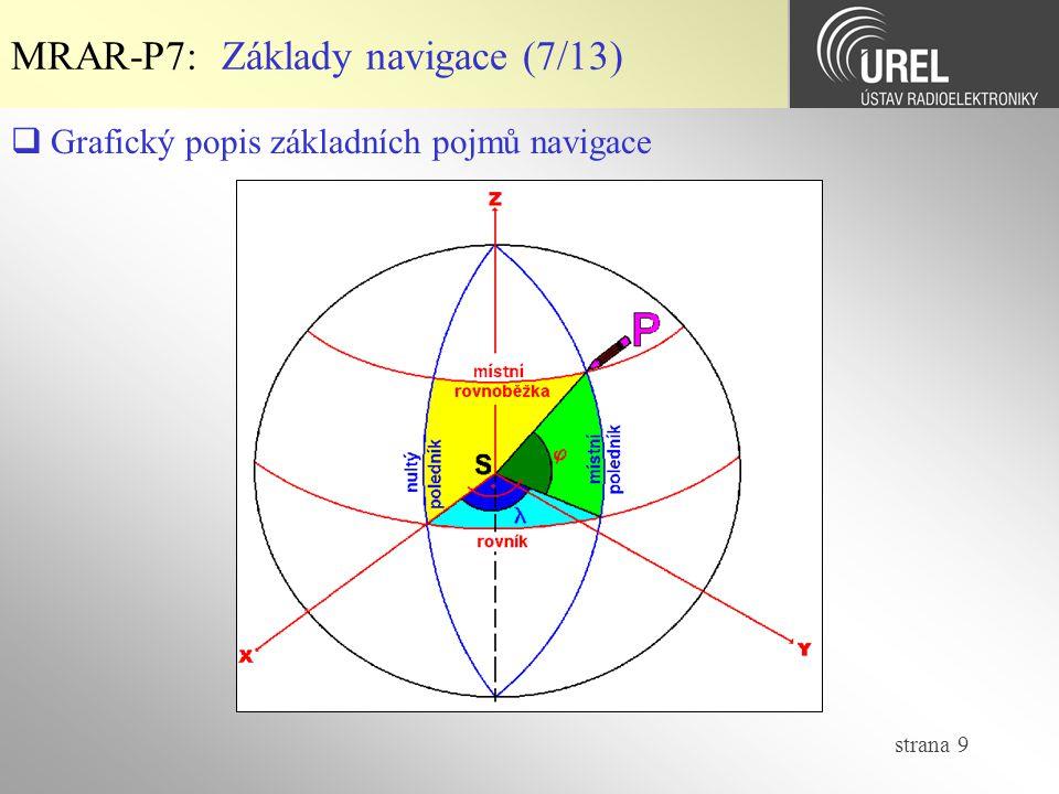 strana 30 MRAR-P7: Geodetické souř.