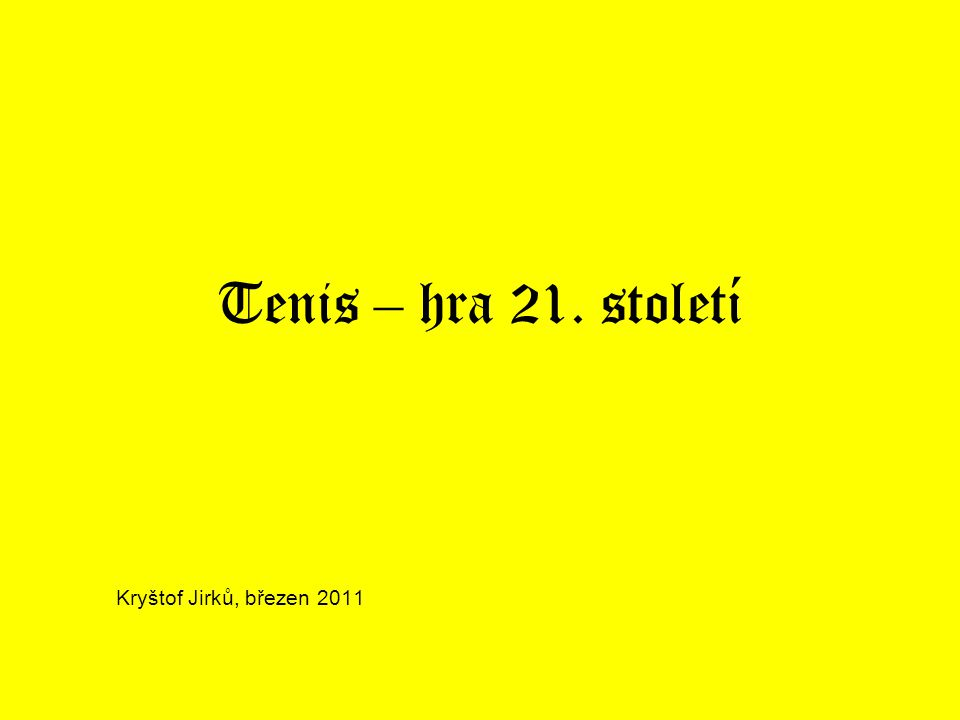 Historie tenisu Paume – 1592, inspirace pro tenis Walter Wingfield – patent 19.