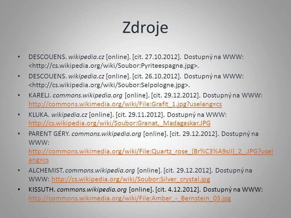 Zdroje DESCOUENS.wikipedia.cz [online]. [cit. 27.10.2012].
