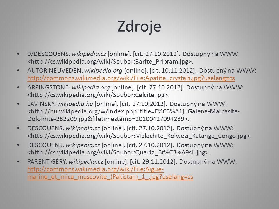 Zdroje 9/DESCOUENS.wikipedia.cz [online]. [cit. 27.10.2012].
