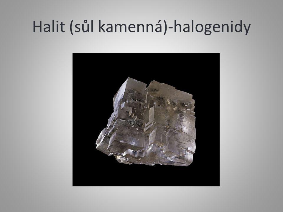 Halit (sůl kamenná)-halogenidy