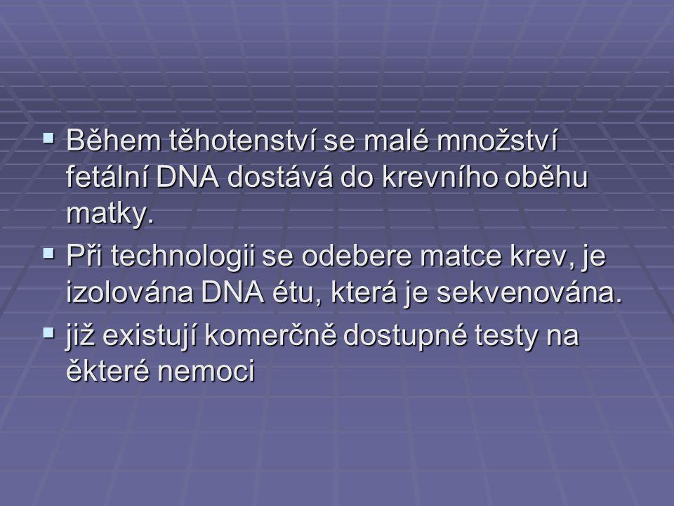 """Prenatální sekvenování genomu  Tato technologie by mohla:  (1) změnit normy a očekávání v těhotenství způsobem, které zkomplikuje autonomii rodičů a jejich informované rozhodování  (2) zveličí negativní roli, kterou hraje genetický determinismus při výchově dítěte  (3) podminuje budoucí autnomii dítěte tím, že mu odejme """"právo nvědět informace o svém genetickém profilu bez adekvátního ospravedlnění."""