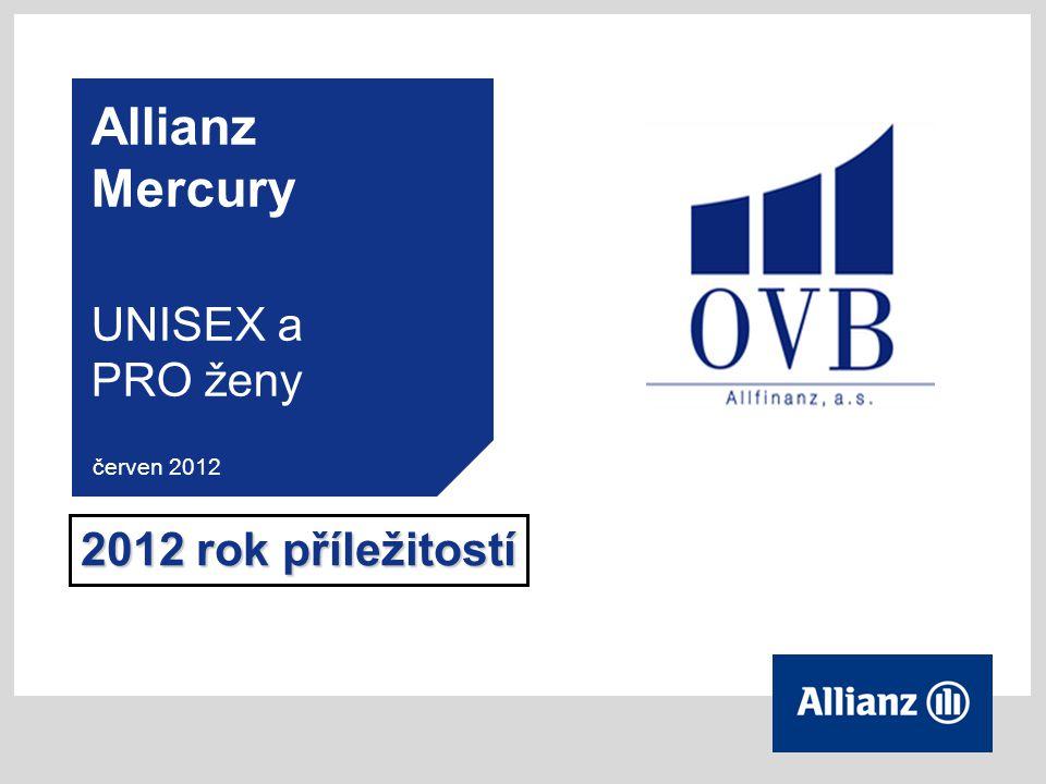 Allianz Mercury UNISEX a PRO ženy červen 2012 2012 rok příležitostí