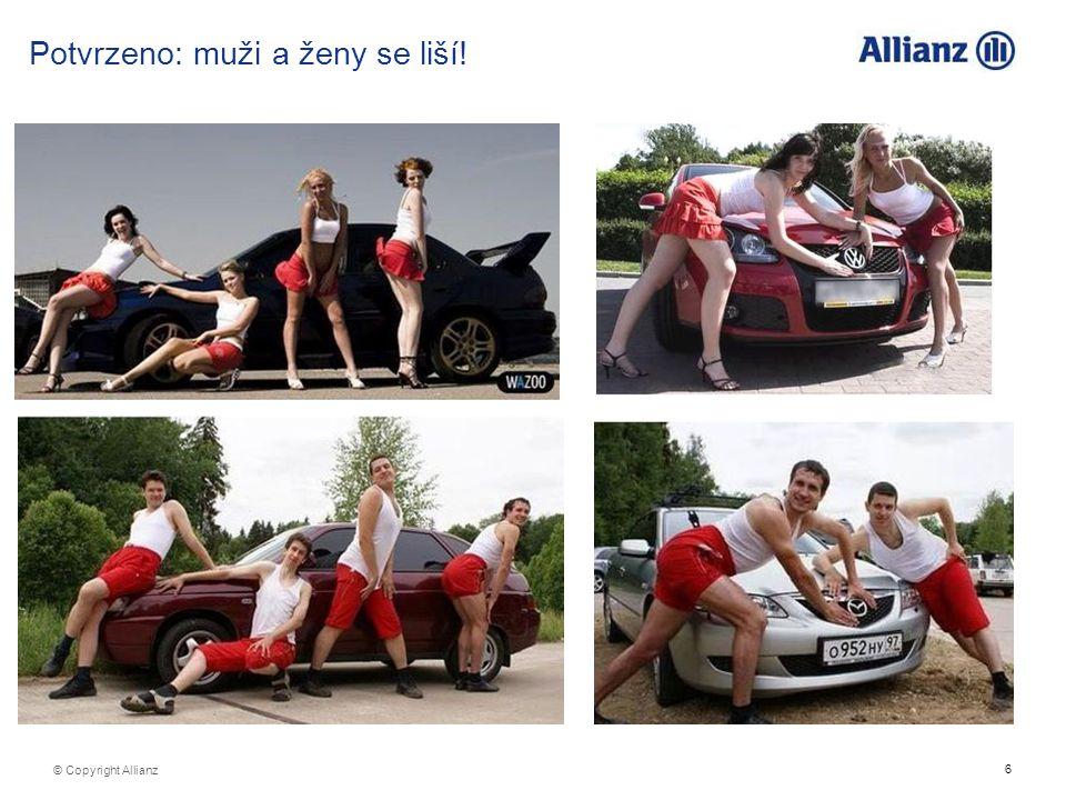 6 © Copyright Allianz Potvrzeno: muži a ženy se liší!