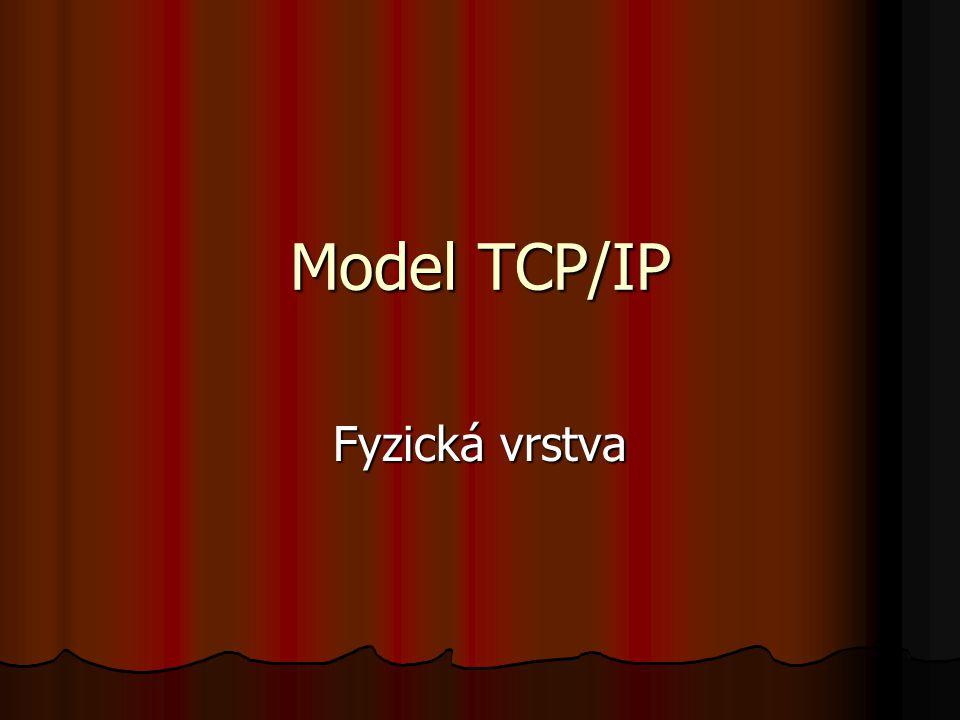 Model TCP/IP Fyzická vrstva