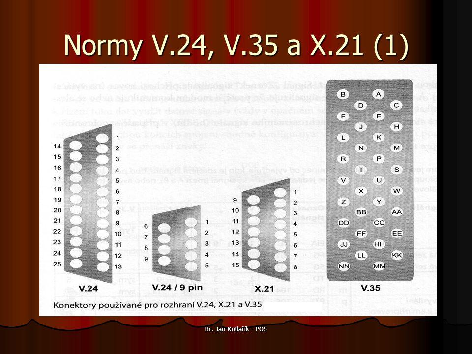 Bc. Jan Kotlařík - POS Normy V.24, V.35 a X.21 (1)