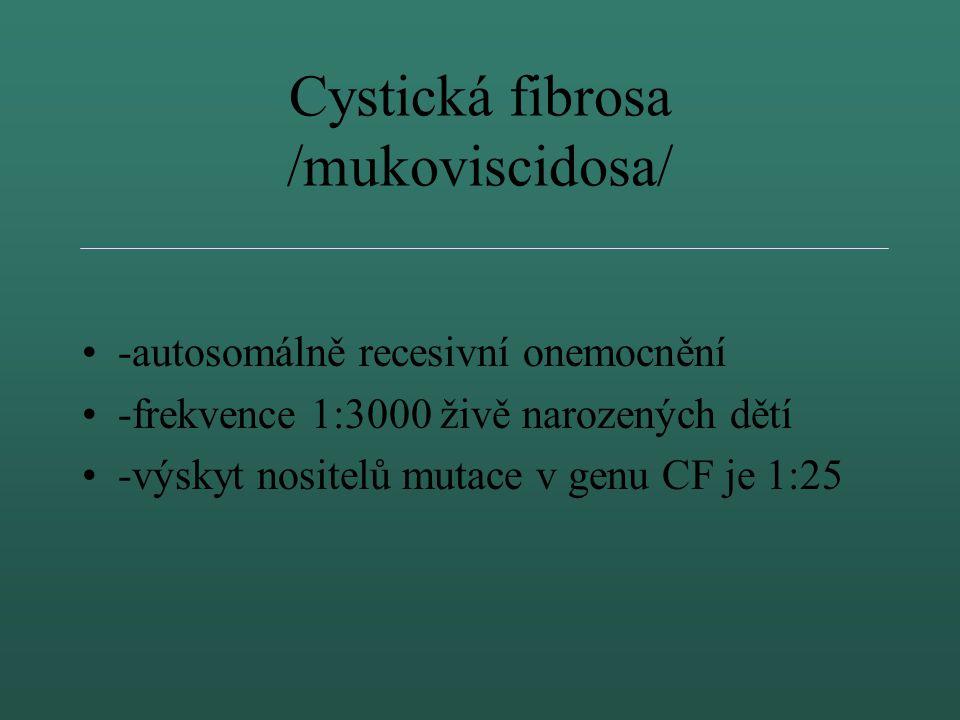 Vyšetření mutací v CFTR genu Kapečková L., Nehybová M., Plotěná M., Spěšná R. a Valášková I. OLG FN Brno