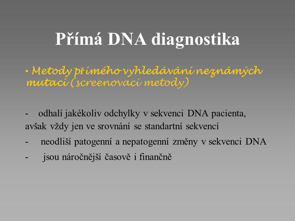Příklady chorob s vymezeným počtem mutací