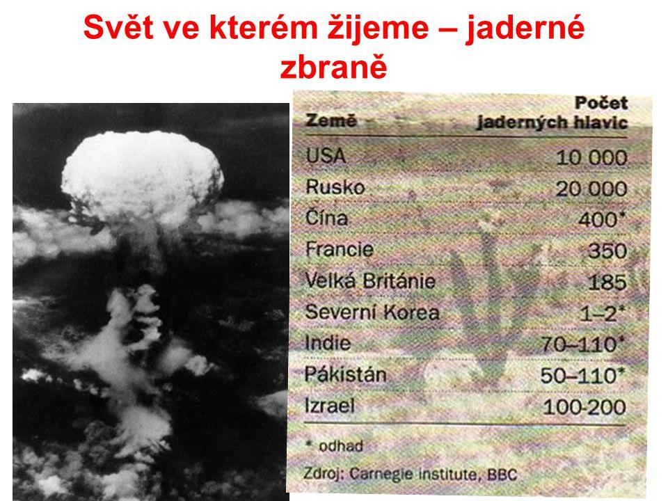 Svět ve kterém žijeme – jaderné zbraně