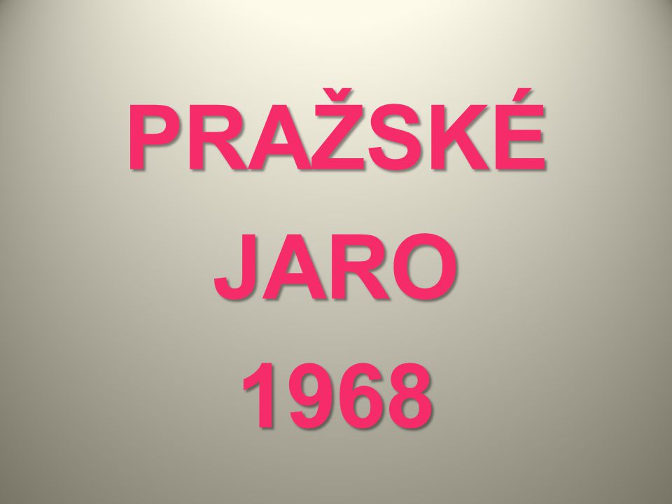 PRAŽSKÉJARO1968