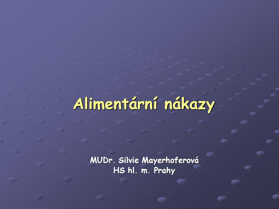 Alimentární nákazy MUDr. Silvie Mayerhoferová HS hl. m. Prahy