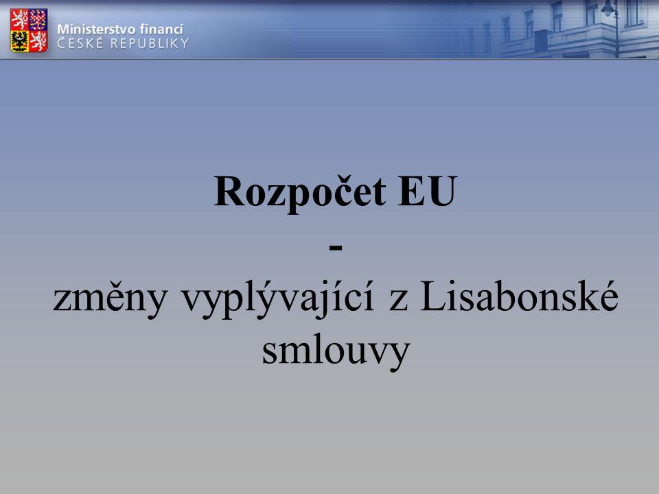Obsah Roční rozpočet EU –Rozpočtová procedura dle LS –Praktické dopady