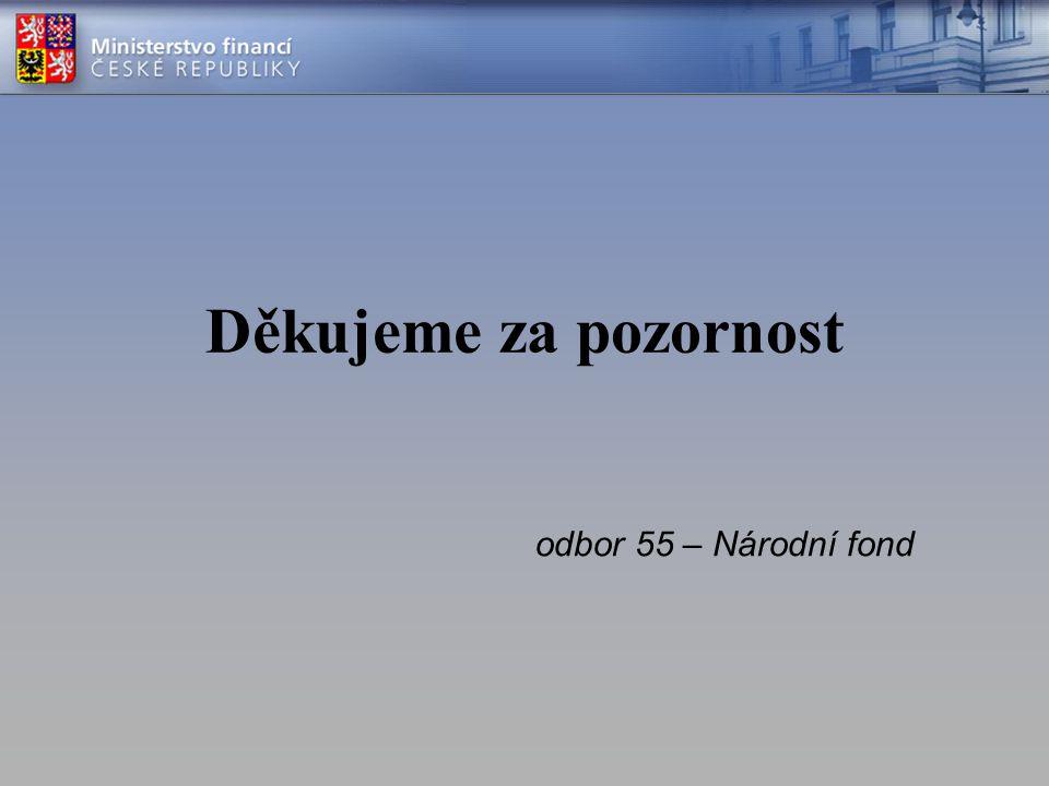 Děkujeme za pozornost odbor 55 – Národní fond