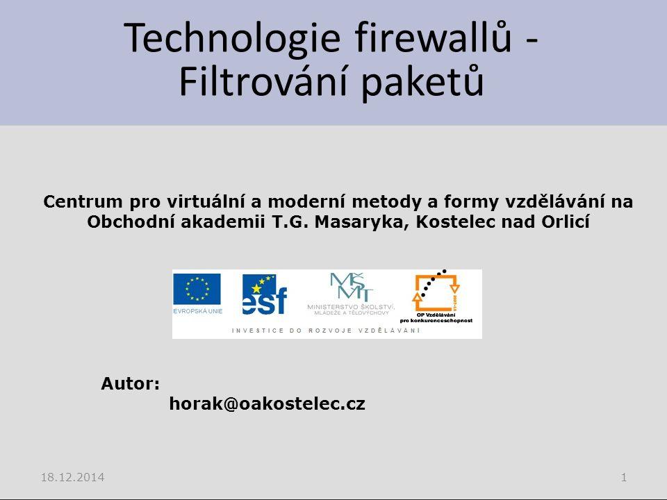 Představa firewallu Zdroj Microsoft, nápověda Windows