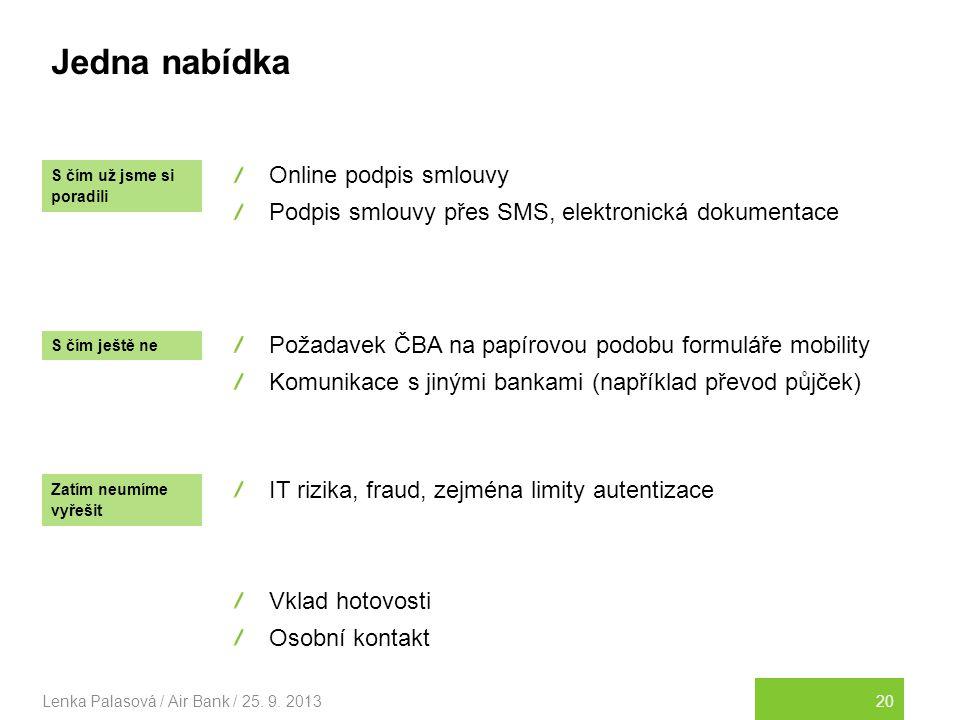 20Lenka Palasová / Air Bank / 25.9.