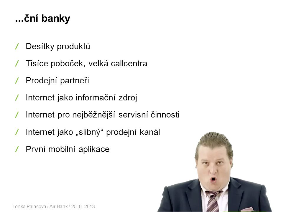 Otevřeli jsme 22. 11. 2011 Lenka Palasová / Air Bank / 25. 9. 20134