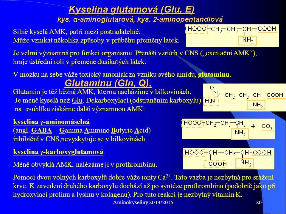 Aminokyseliny 2014/201521 SILNĚ ZÁSADITÝ!!.