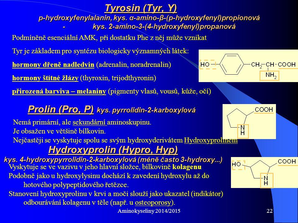 Aminokyseliny 2014/201523 Vznik peptidové vazby: - reakce probíhá v roztoku, proto jsou ionizovatelné skupiny ionizovány PEPTIDOVÁ VAZBA peptidová vazba Peptidová vazba je planární – leží v rovině, protože má částečně charakter dvojné vazby C–N = 0,149 nm, C=N = 0,127 nm Peptidová vazba = 0,132 nm