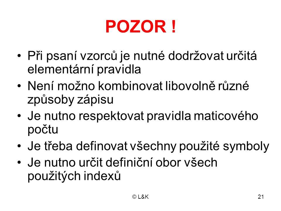 © L&K21 POZOR .