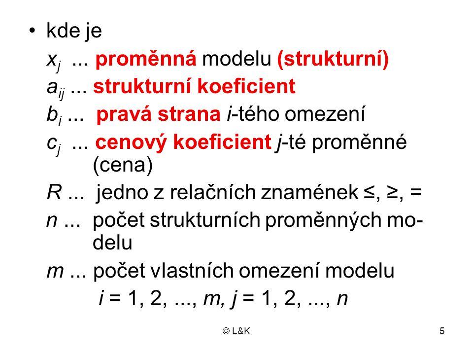 © L&K5 kde je x j...proměnná modelu (strukturní) a ij...