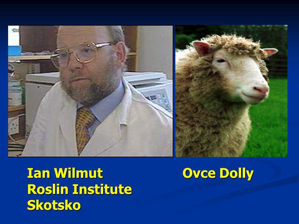 Ian Wilmut Roslin Institute Skotsko Ovce Dolly